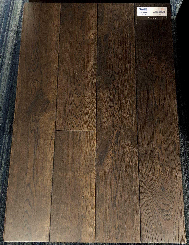 Amaretto Northernest White Oak Wirebrushed Hardwood Flooring Image