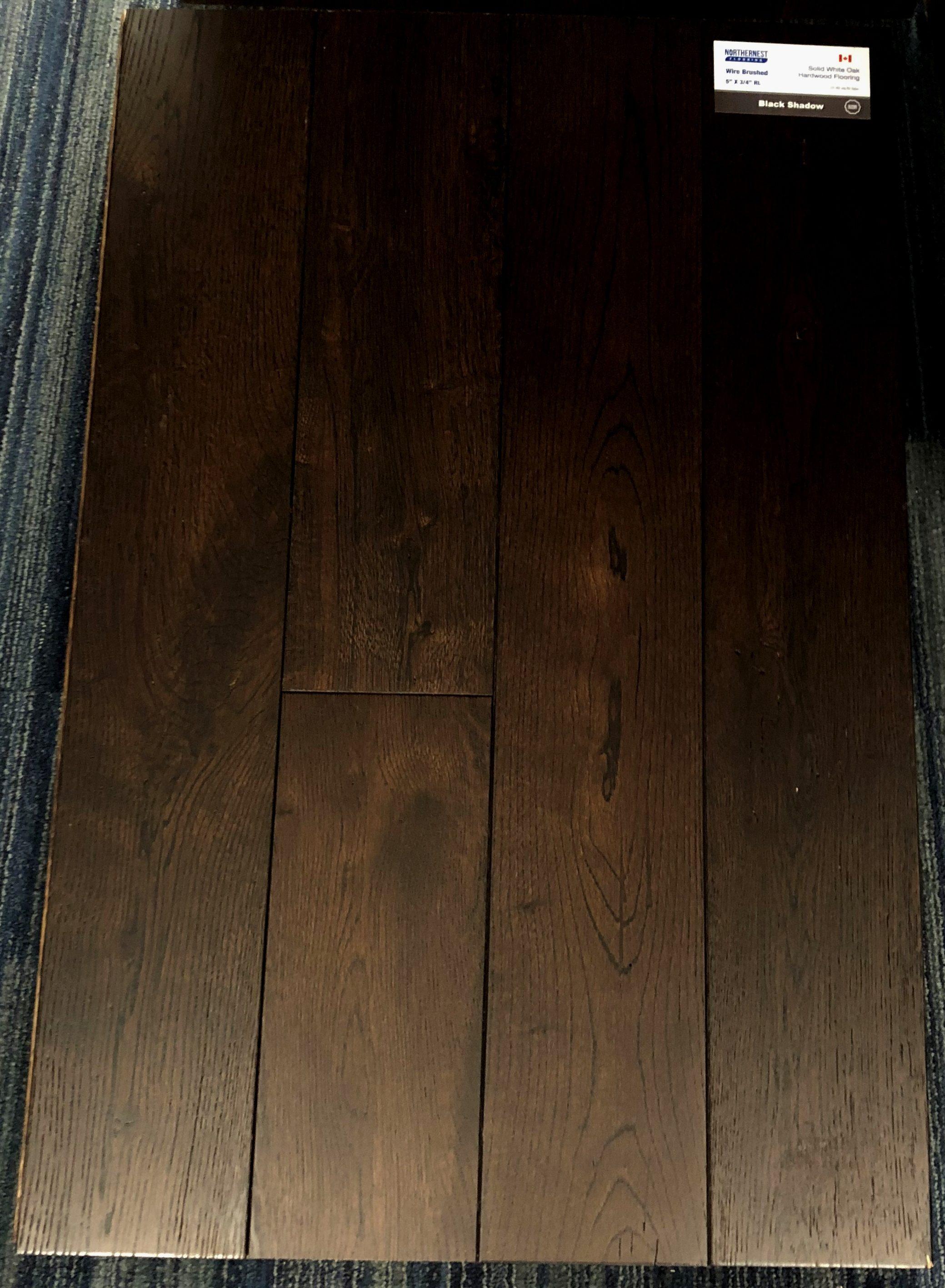 Black Shadow Northernest White Oak Wirebrushed Hardwood Flooring Image