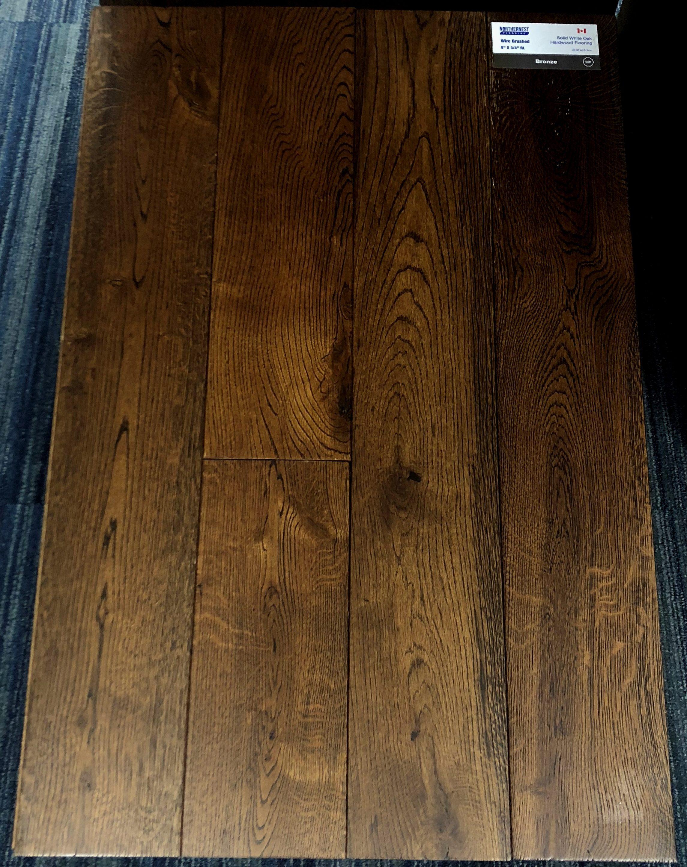 Bronze Northernest White Oak Wirebrushed Hardwood Flooring Image