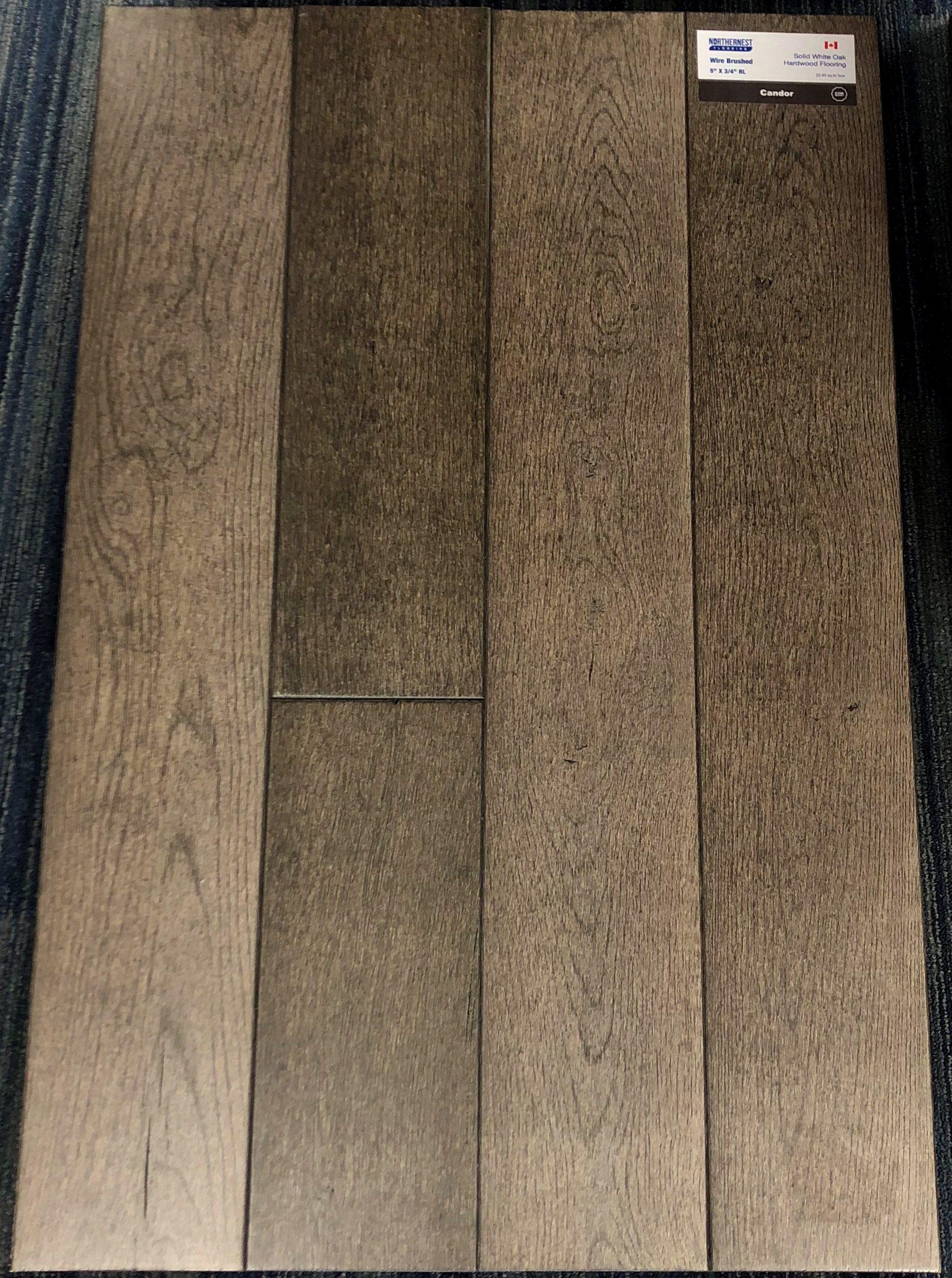 Condor Northernest White Oak Wirebrushed Hardwood Flooring Image