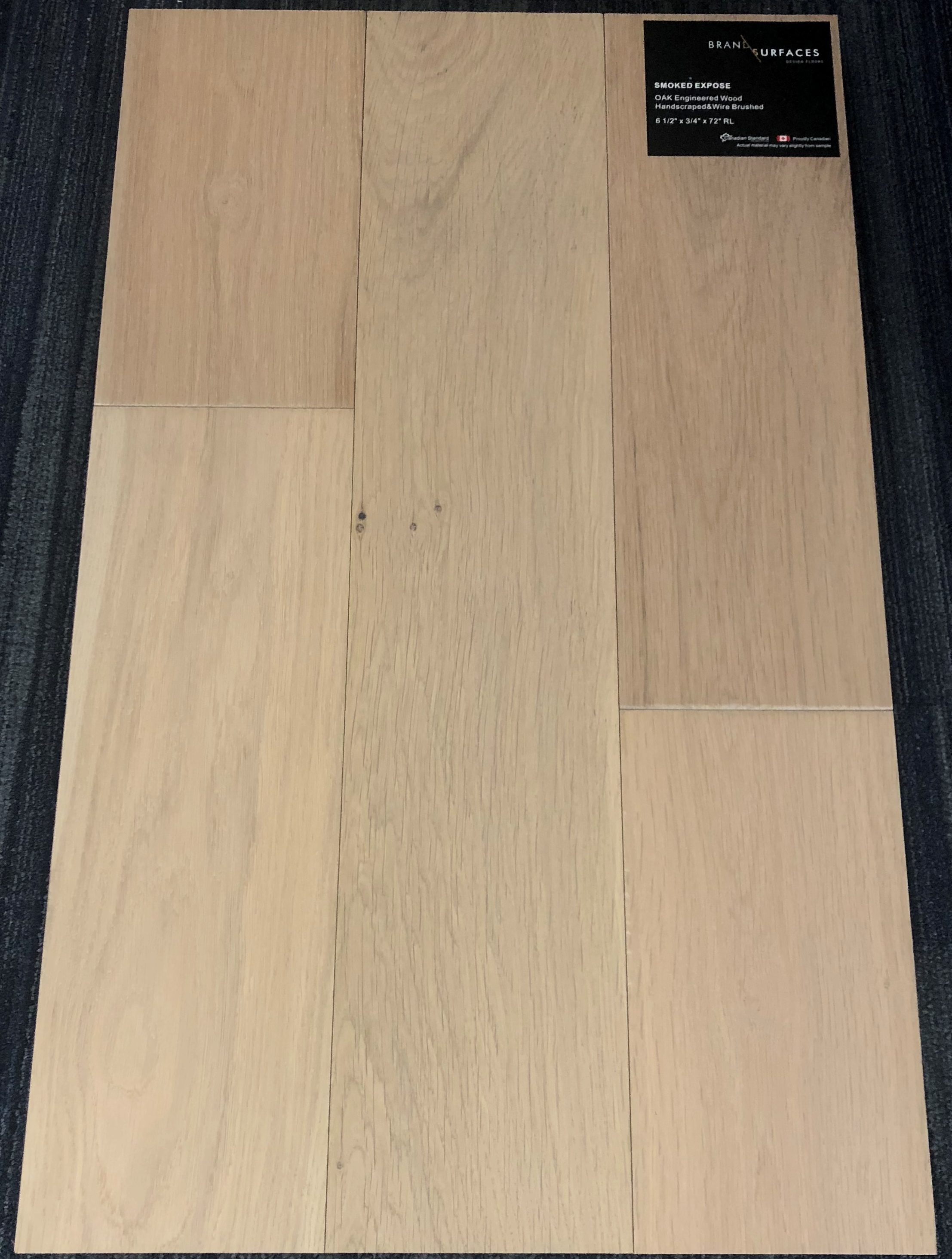 Smoked Expose Brand Surfaces Oak Handsed Wire Brush Engineered Flooring Size 6 1 2