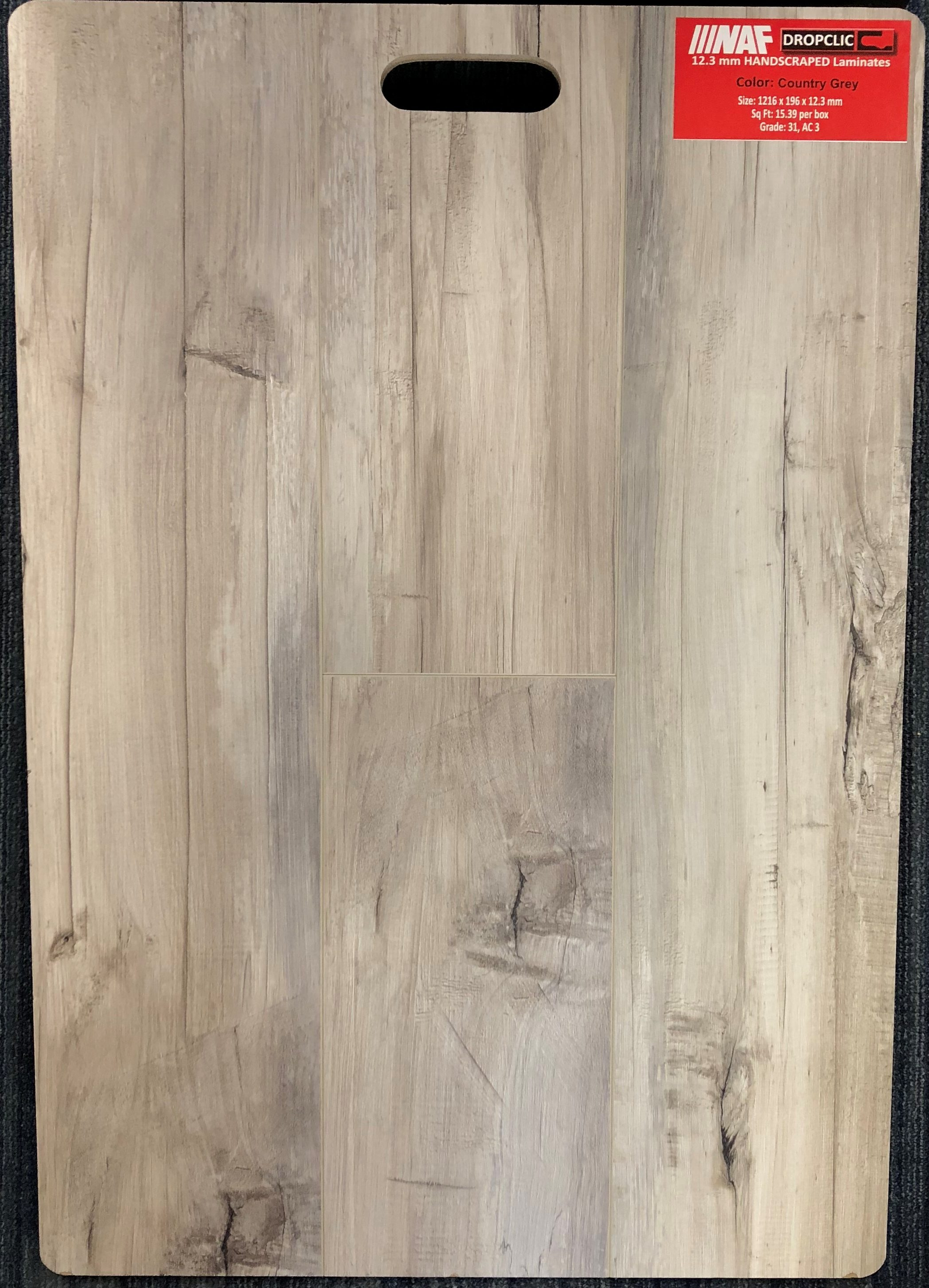 Country Grey NAF 12.3mm Handscraped Laminate Flooring Dropclic Image