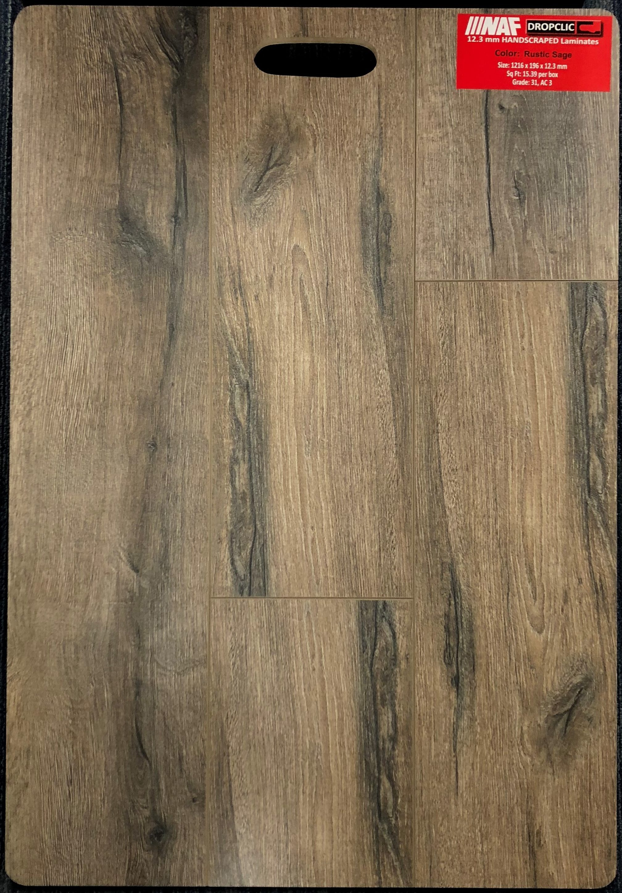 Rustic Sage NAF 12.3mm Handscraped Laminate Flooring Image