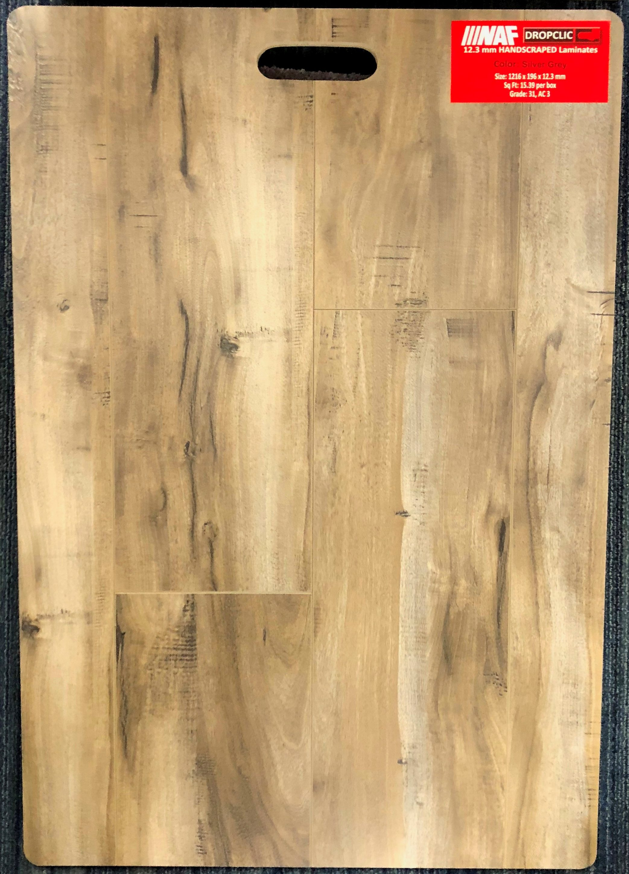 Silver Grey NAF 12.3mm Handscraped Laminate Flooring Image