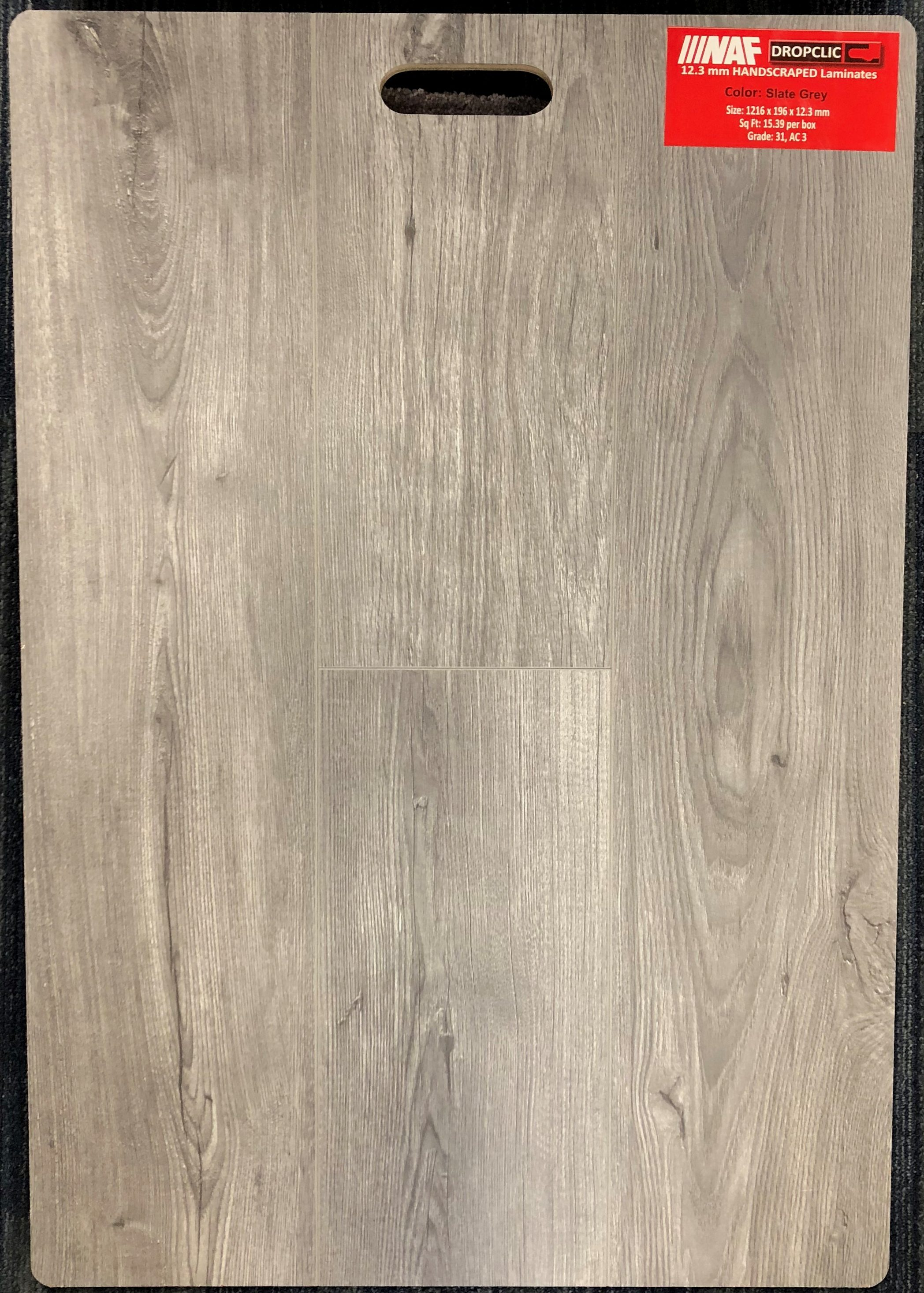 Slate Grey NAF 12.3mm Handscraped Laminate Flooring Image