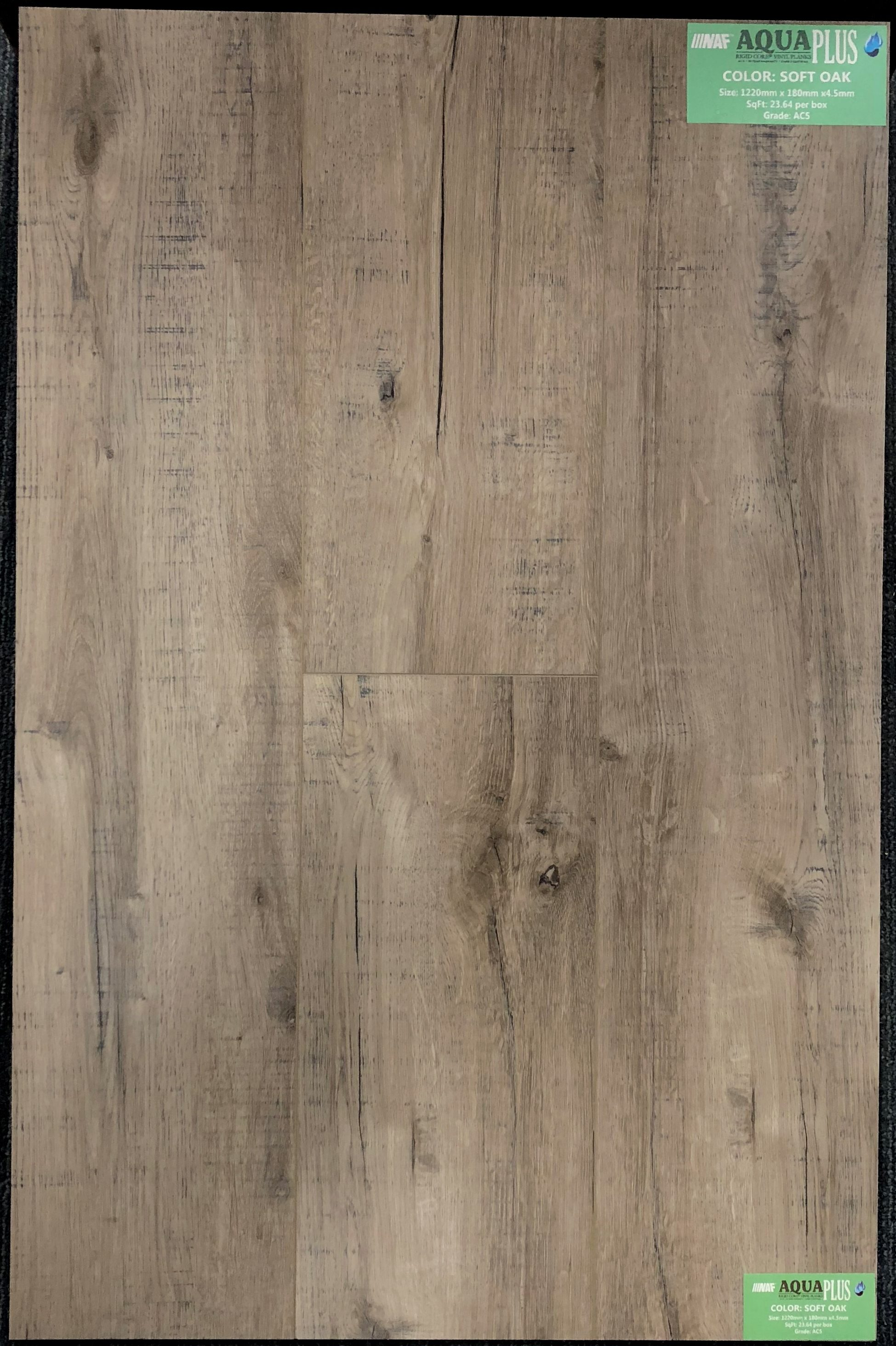 Soft Oak NAF Aquaplus 4.5mm Vinyl Flooring Rigid Core - Drop Clic - 0.3mm Wear Layer Image