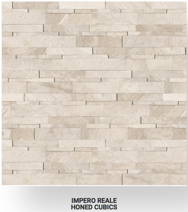 6x24 Impero Reale Marble Honed Cubics Ledgerstone 72-613 Image