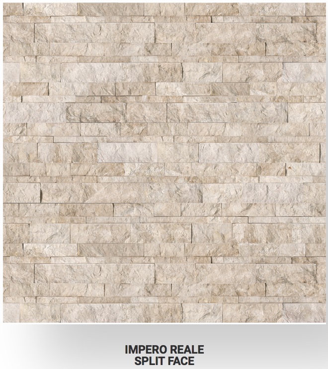 6x24 Impero Reale Marble Split Face Ledgerstone 72-608 Image
