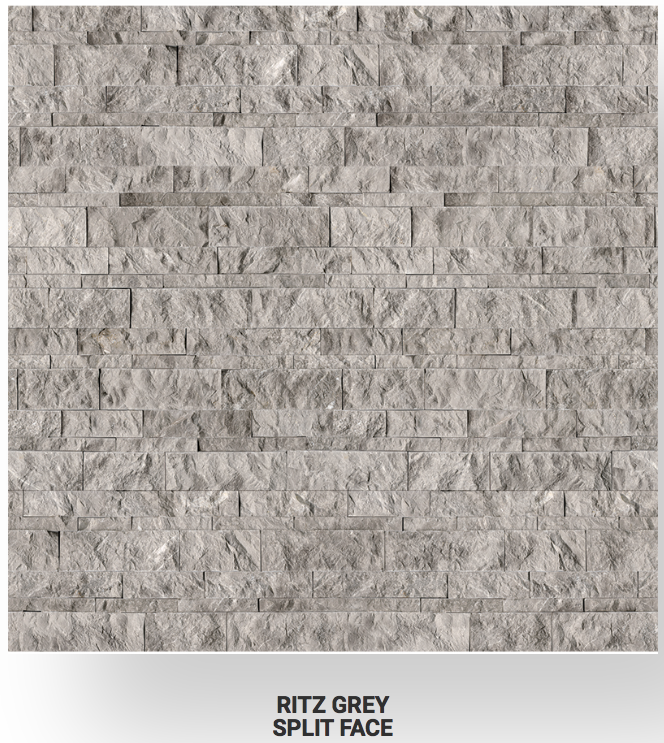 6x24 Ritz Gray Marble Split Face Ledgerstone 72-609 Image