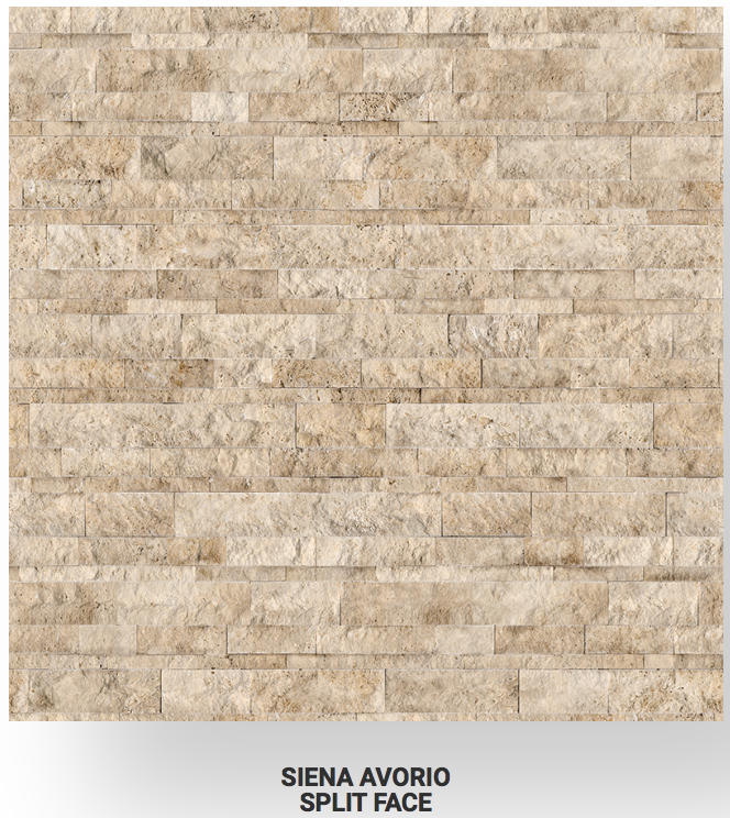 6x24 Siena Avorio Veincut Travertine Split Face Ledgerstone 73-357 Image