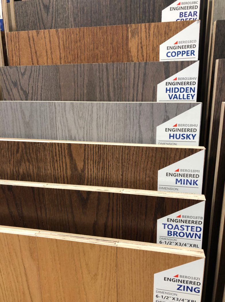"Biyork Red Oak Engineered Hardwood Flooring Bear Creek, Copper, Hidden Valley, Husky, Mink, Toasted Brown, Zing Size: 6 1/2"" x 3/4"" x RL Engineered wood Flooring Mississauga, Toronto, Brampton, Oakville, Hamilton, Burlington, Richmond Hill"