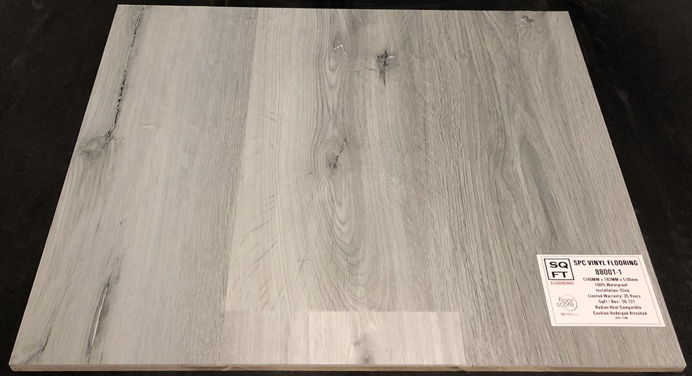 88001-1 Grandeur 5mm SPC Vinyl Plank Flooring - Underpad Attached Image