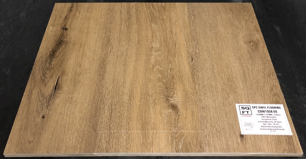 CDW190A-09 - Grandeur 5mm SPC Vinyl Plank Flooring - Underpad Attached Image