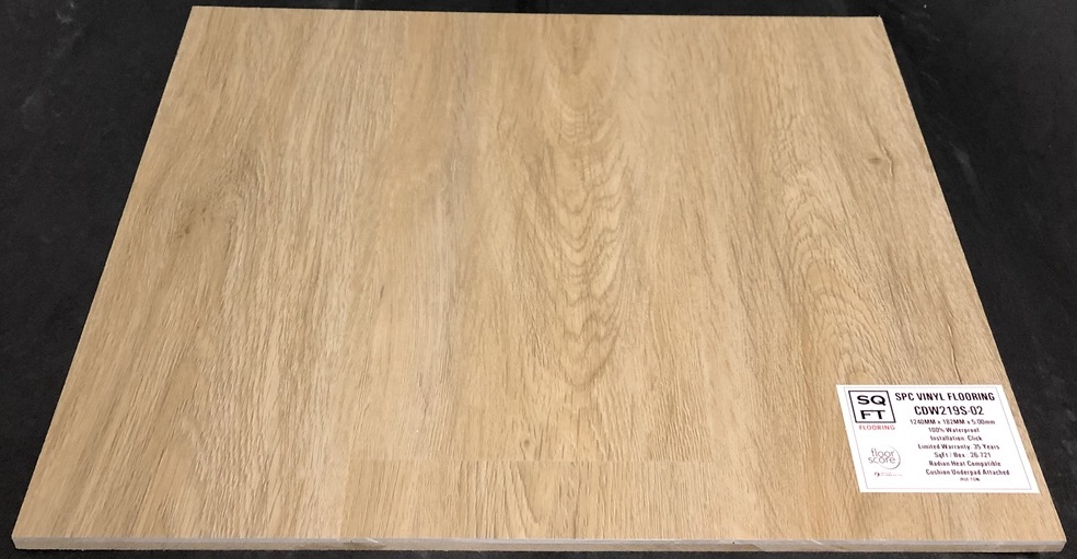 CDW219S-02 Grandeur 5mm SPC Vinyl Plank Flooring - Underpad Attached Image