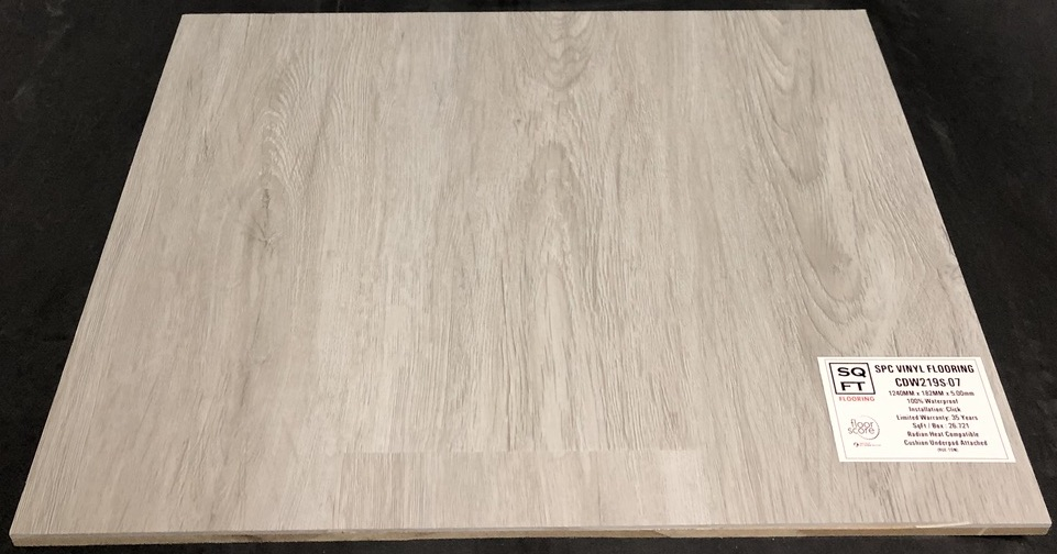 CDW219S-07 - Grandeur 5mm SPC Vinyl Plank Flooring - Underpad Attached Image