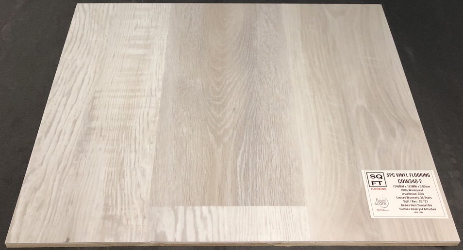 CDW340-2 Grandeur 5mm SPC Vinyl Plank Flooring - Underpad Attached Image