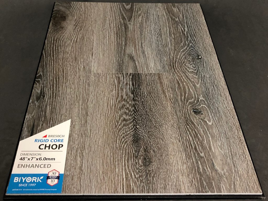 Chop Biyork 6mm SPC Vinyl Plank Flooring Rigid Core - Enhanced