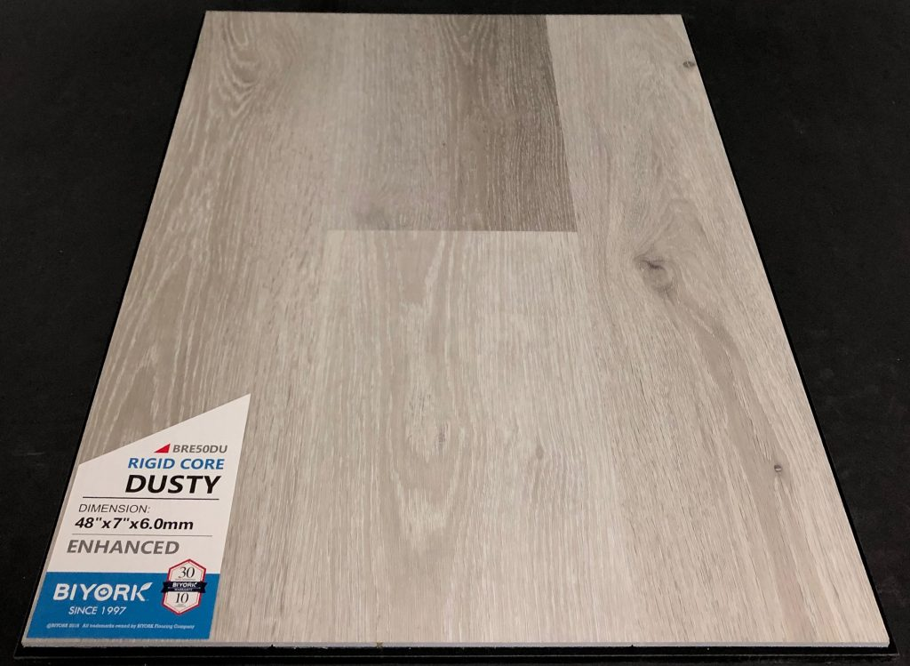 Dusty Biyork 6mm SPC Vinyl Plank Flooring Rigid Core - Enhanced