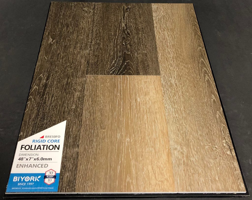 Foliation Biyork 6mm SPC Vinyl Plank Flooring Rigid Core - Enhanced
