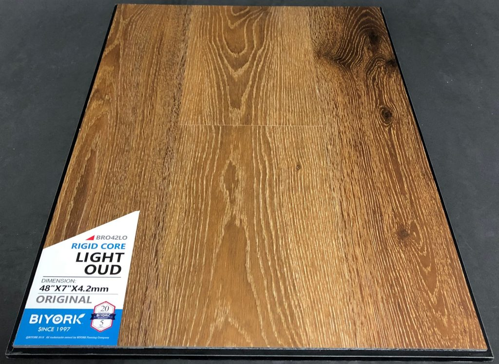 Light Oud Biyork 4.2mm SPC Vinyl Flooring Rigid Core
