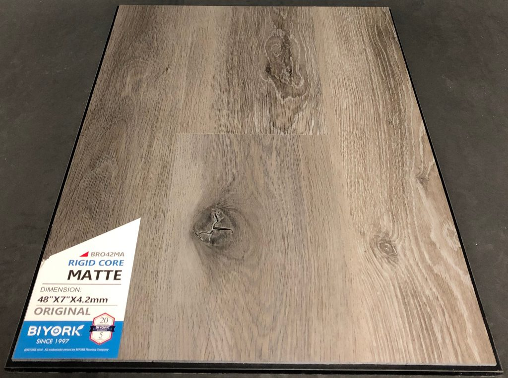 Matte Biyork 4.2mm SPC Vinyl Flooring Rigid Core