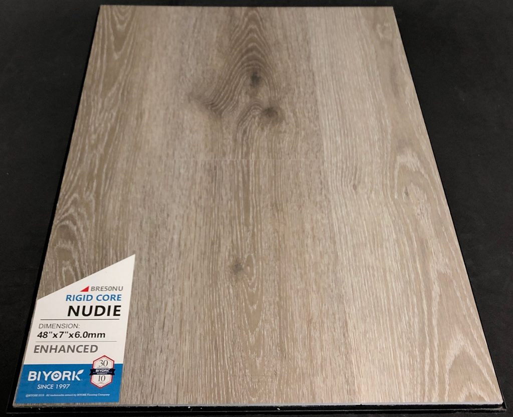 Nudie Biyork 6mm SPC Vinyl Plank Flooring Rigid Core - Enhanced