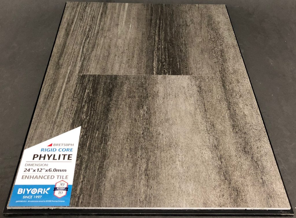 Phylite Biyork 6mm SPC Vinyl Tile Flooring Rigid Core - Enhanced Tile