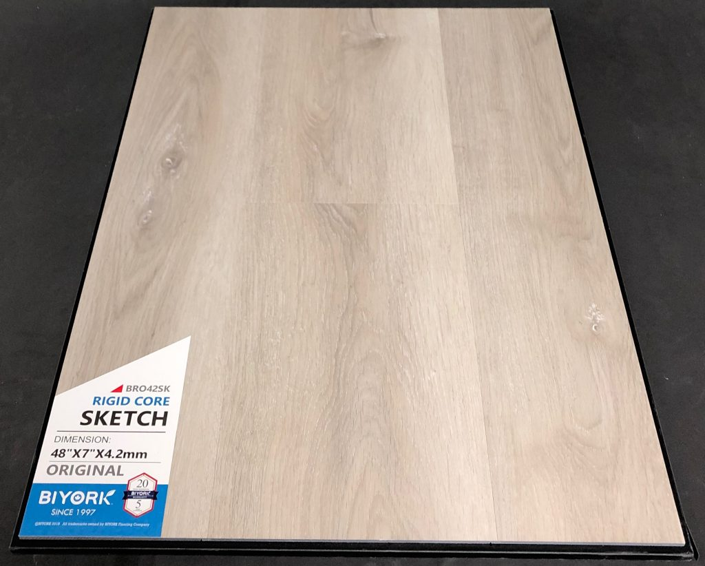 Sketch Biyork 4.2mm SPC Vinyl Flooring Rigid Core