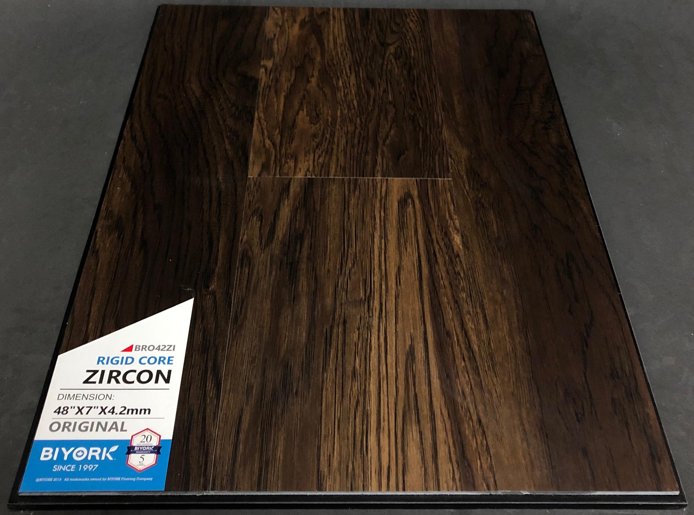 Zircon Biyork 4.2mm SPC Vinyl Flooring Rigid Core Image