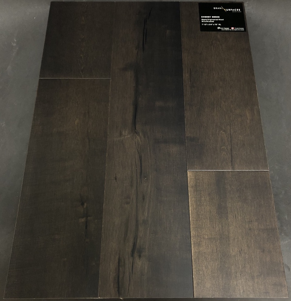 Chimney Smoke Brand Surfaces Maple Engineered Hardwood Flooring