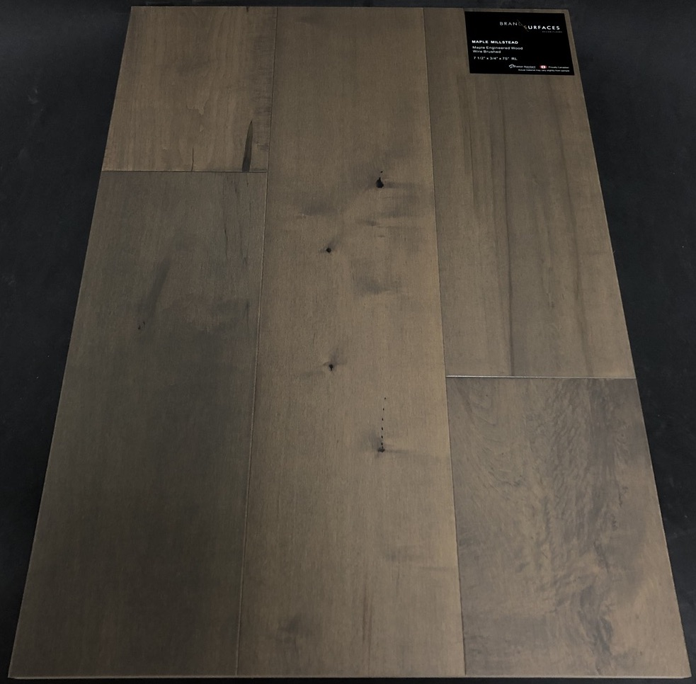 Millstead Brand Surfaces Maple Engineered Hardwood Flooring