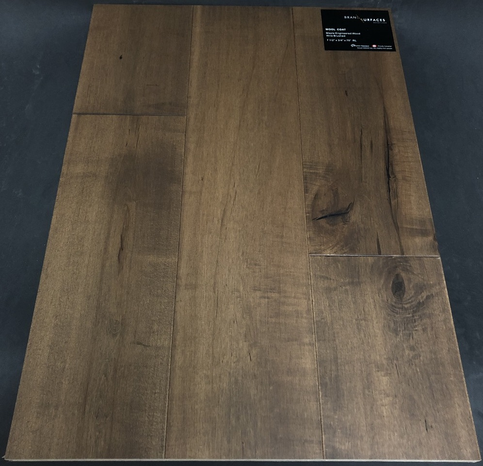 Wool Coat Brand Surfaces Maple Engineered Hardwood Flooring
