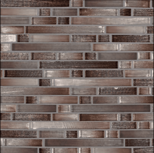 AKAYA COPPER INTERLOCKING 8MM Glass Mosaics