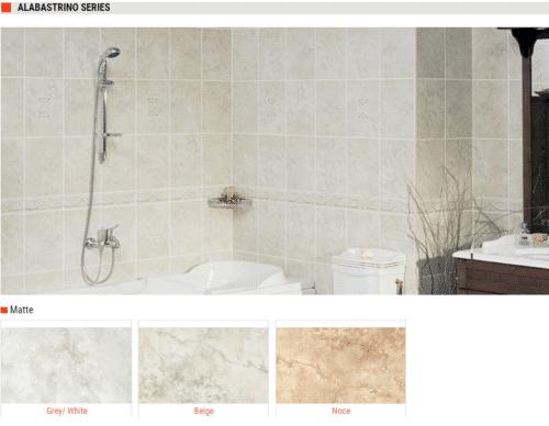 ALABASTRINO SERIES Matte Cermaic Wall Tiles Grey White Beige Brown Size 10x13 1 1