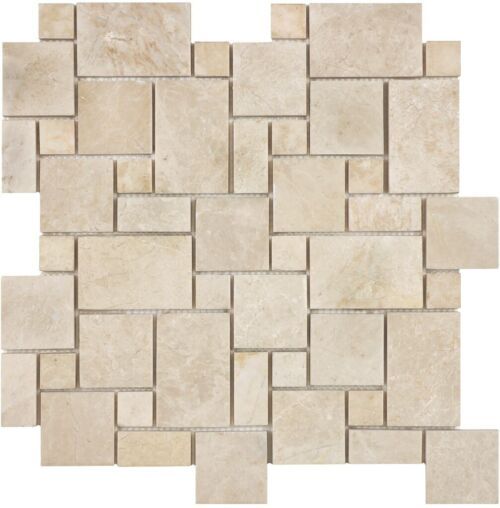 ALLURE CREMA MINI VERSAILLES MARBLE MOSAICS POLISHED 76 362 HONED 76 366