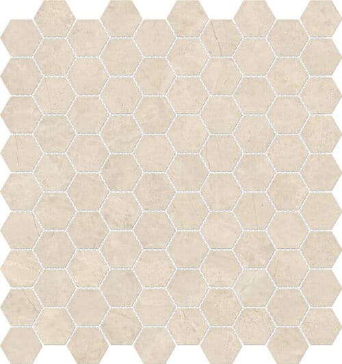 ALLURE IVORY POLISHED 69 926 1.25X1.25 MAYFAIR HEXAGON PORCELIAN MOSAICS
