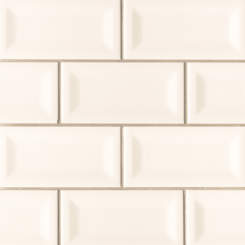 ALMOND GLOSSY 3X6 INVERTED BEVELED Ceramic Mosaics
