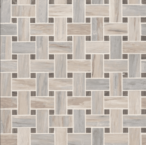 ANGORA BASKETWEAVE POLISHED Marble Mosaics