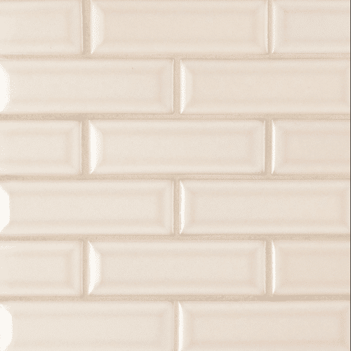 ANTIQUE WHITE 2X6 BEVELED Ceramic Mosaics
