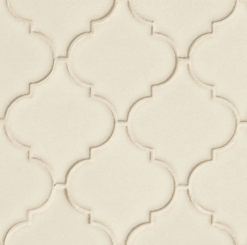 ANTIQUE WHITE ARABESQUE 8MM Ceramic Mosaics