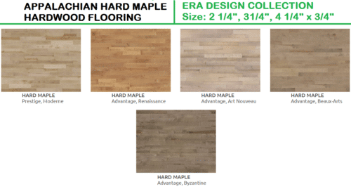 APPALACHIAN HARD MAPLE HARDWOOD FLOORING ERA DESIGN COLLECTION 1
