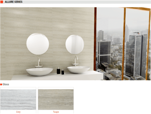 Allure Series Gloss Ceramic Tiles Grey and Taupe 8x20 1 1
