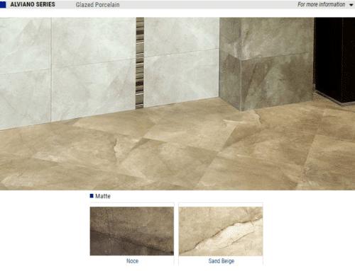 Alviano Matte Glazed Porcealin Tile Color Noce Sand Beige Size13x13 12x24 1 1