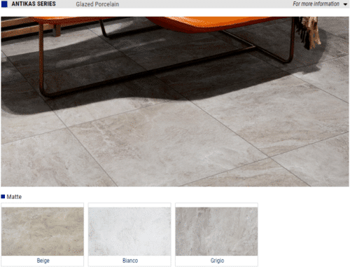 Antikas Matte Glazed Porcelain Tile Color Beige Bianco Grigio Size 12x24 18x18 1 1