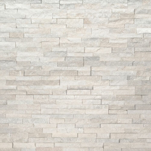 Arctic White Mini Stacked Stone Panels Ledgerstone 4.5X16 1