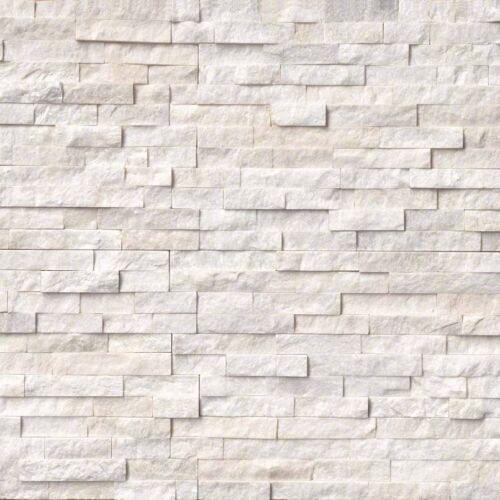 Arctic White Stacked Stone Panels Ledgerstone 6X24 1