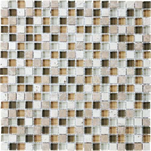 BAMBOO 35 003 BLISS GLASS AND STONE BLEND MOSAICS