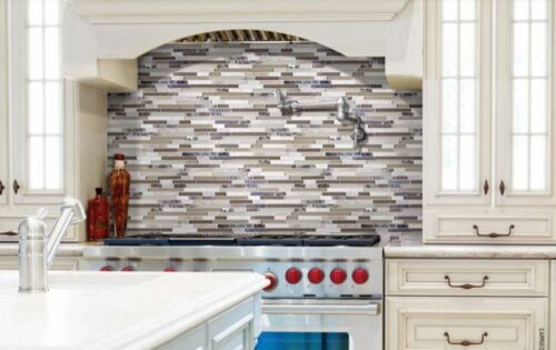 Bliss Glass Stone Linear Blend Mosaics Backsplash Tile Anatolia Tile Squarefoot Flooring 1