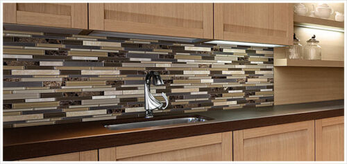 Bliss Glass Stone Stainless Linear Blend Mosaics Anatolia Tile Squarefoot Flooring 1