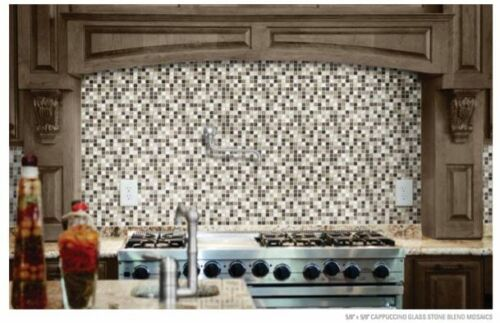 Bliss Glass and Stone Blend Mosaics Backsplash Tile Anatolia Tile Squarefoot Flooring 1